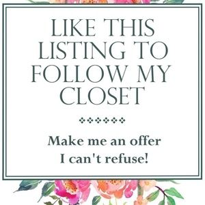 Bookmark my closet by liking this listing : )